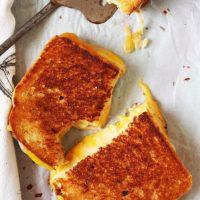 Fancy Schmancy Asiago Grilled Cheese Sandwich
