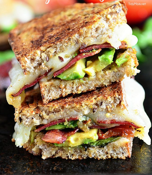 Turkey Bacon Avocado Grilled Cheese Sandwich